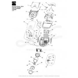 Kenmore Power-Mate Canister Vacuum 116.23104800C