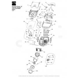 Kenmore Power-Mate Canister Vacuum 116.23107800C