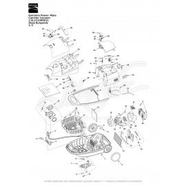 Kenmore Power-Mate Canister Vacuum 116.23109901C
