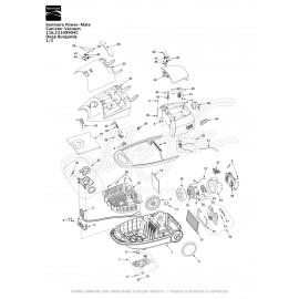 Kenmore Power-Mate Canister Vacuum 116.23109904C