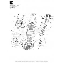 Kenmore Power-Mate Canister Vacuum 116.23204110C