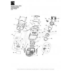 Kenmore Power-Mate Canister Vacuum 116.23204111C