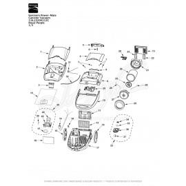 Kenmore Power-Mate Canister Vacuum 116.23204112C