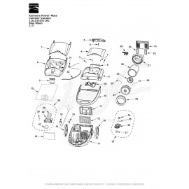 Kenmore Power-Mate Canister Vacuum 116.23205110C