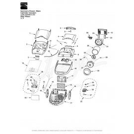 Kenmore Power-Mate Canister Vacuum 116.23205111C