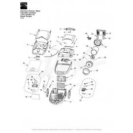 Kenmore Power-Mate Canister Vacuum 116.23206111C
