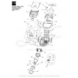 Kenmore Power-Mate Canister Vacuum 116.23405211C