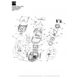 Kenmore PowerMate Canister Vacuum 116.23405212C