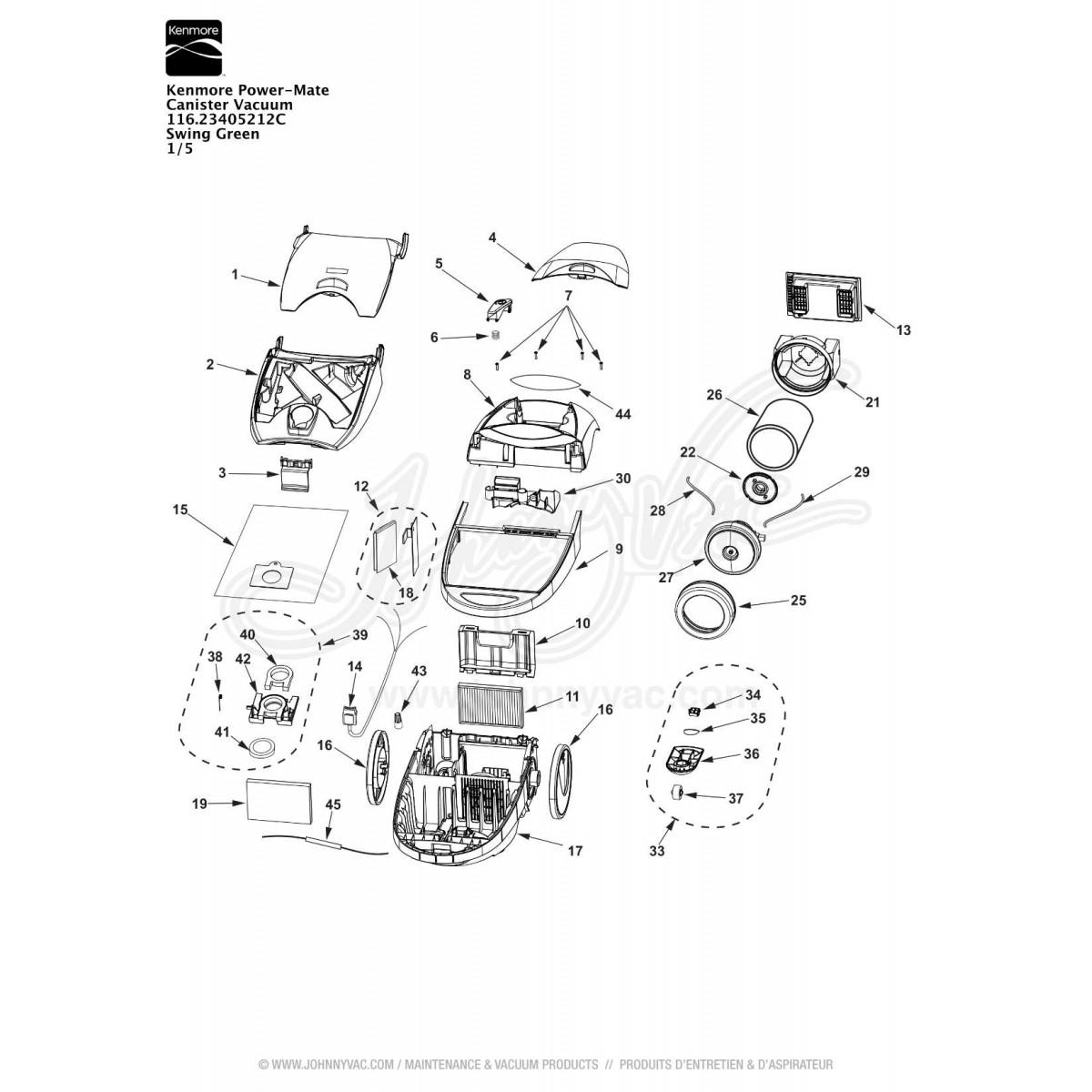 Kenmore Powermate Canister Vacuum Wiring Diagram