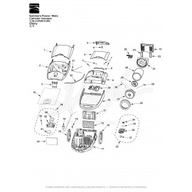 Kenmore Power-Mate Canister Vacuum 116.23485110C