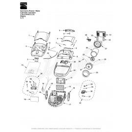 Kenmore Power-Mate Canister Vacuum 116.23485111C
