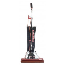 """Aspirateur vertical commercial pour tapis et planchers - Perfect PE102 - largeur de nettoyage 16"""" (40.6 cm) - noire et rouge"""