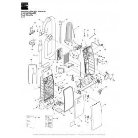 Kenmore Upright Vacuum Teal Metallic 116.30612002C