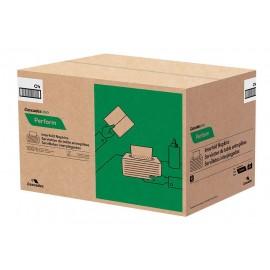 """Serviettes de table entrepliées - 1 épaisseur - 12,6"""" x 8,5"""" (32,1 cm x 21,6 cm) - boïte de 16 paquet de 376 serviettes - blanche - Tandem Cascades Pro T410"""