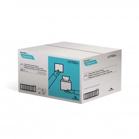Papier mouchoir - 2 épaisseurs - 36 boîte de 95 mouchoirs - cube signature