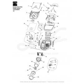 Kenmore Power-Mate Canister Vacuum 116.23105801C