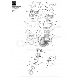 Kenmore Power-Mate Canister Vacuum 116.23107801C