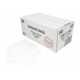 """Sacs à poubelle / ordures commercial - régulier - 20"""" x 22"""" (50,8 cm x 55,8 cm) - blanc - boîte de 500"""