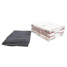 """Sacs à poubelle / ordures commercial - extra robuste - 42"""" x 48"""" (106,6 cm x 121,9 cm) - noir - boîte de 100"""