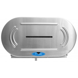 JUMBO DOUBLE ROLL DIPENSER INOX FROST
