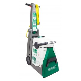 BISSEL PROFESSIONAL CARPET CLEANER BIG GREEN® Two Motors: One for the Rotative Brush and One for Suction, two Tanks: One for Solution Water and One for Used Water, Ergonomic, Adjustable and down Side, Handle, Extra Large Dirt-lift Rotary Power Brush