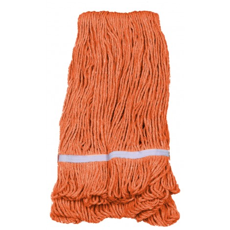 String Mop Replacement Head - with Narrow Strips and Looped End - Orange - Medium - Select BE02I