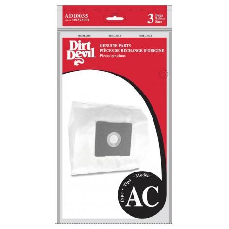 Paper Bag for Dirt Devil Type AC AD10035 Vacuum - Pack of 3 Bags
