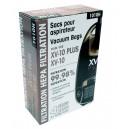 Sac microfiltre HEPA pour aspirateur chariot - Johnny Vac XV-10 et XV-10 Plus - paquet de 4 sacs + 1 filtre