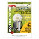 Microfilter Hepa Vacuum Bag for Back Pack Proteam Perfect - Pack of 6 Bags