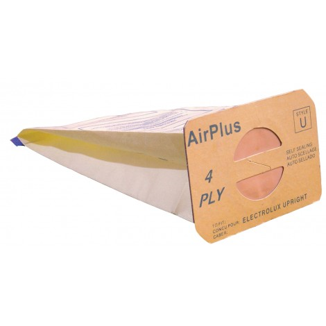 Paper Vacuum Bag for Electrolux Discovery Prolux - Style U AirPlus - Box of 100 Bags - Bulk - 138FPC*