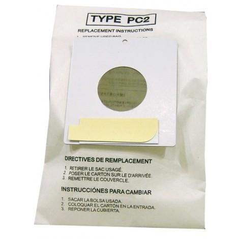 Sac microfiltre pour aspirateur chariot Sharp type PC2 - paquet de 5 sacs