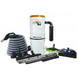 Ensemble d'aspirateur central & accessoires RhinoVac avec balai électrique - Démo