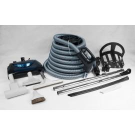 Ensemble d'accessoires d'aspirateur central avec brosses, brosse-turbo et balai électrique - boyau de 35' - Usagé