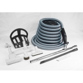 Central Vacuum Kit with 35' Hose - Multiple Tools and Accessories - Demo