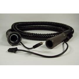 """Boyau électrique complet - 2 m (7') - 31,75 mm (1 1/4"""") dia - Majestic original - noir - Filter Queen 4802001211"""