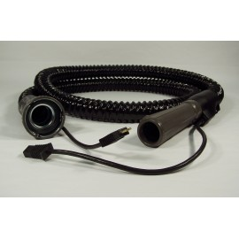 "Complete Electrical Hose - 7' (2 m) - 1 1/4"" (31.75 mm) dia - Majestic Original - Black - Filter Queen 4802001211"