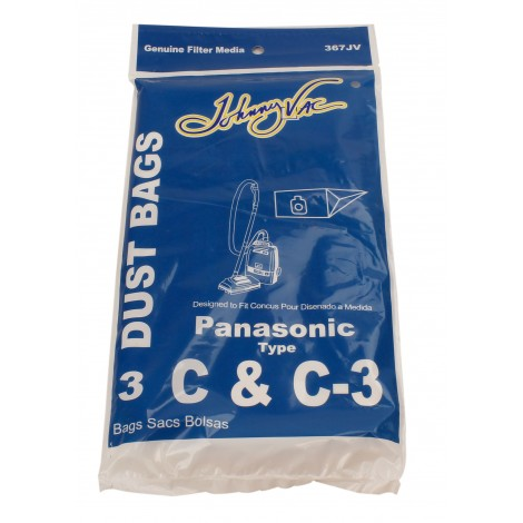 Paper Bag for Panasonic Type C and C-3 Vacuum - Pack of 3 Bags - Envirocare 108SWJV
