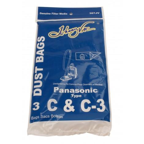 Sac en papier pour aspirateur Panasonic type C et C-3 - paquet de 3 sacs - Envirocare 108SWJV