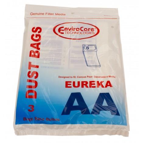 Sac en papier pour aspirateur Eureka type AA - paquet de 3 sacs - Envirocare 158SW