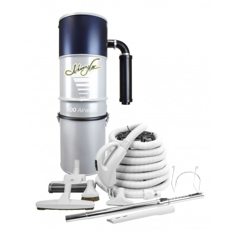 Central Vacuum, Johnny Vac, # JV600LS500VF, With 30 ' Hose, Accessories And Installation Kit