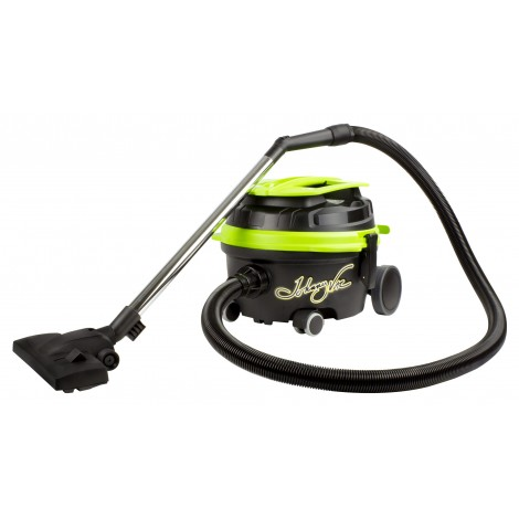 Commercial Canister Vacuum, Johnny Vac # JVECOB, 3 gal. Tank, 2 Chrome Wands, Tools