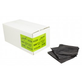 "Commercial Garbage / Trash Bags - Regular - 22"" x 24"" (55.8 cm x 60.9 cm) - Black - Box of 500"