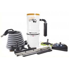 Ensemble d'aspirateur central & accessoires RhinoVac avec balai électrique - Usagé