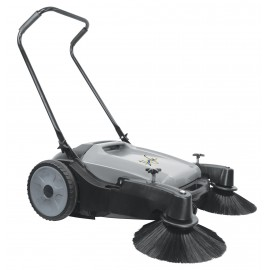 "Manual Floor Carpet Sweeper - Johnny Vac JV320 - 32"" (813 mm) Cleaning Path - 2 Side Brushes - Tank of 10,5 gal (40 L)"