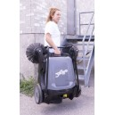 Manual Floor Carpet Sweeper, Johnny Vac # JV320, 2 Side Brushes, Waste Tank Of 40 L, Working Width Of 3 '