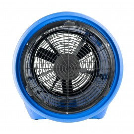 "Industrial Blower / Fan / Floor Dryer - Johnny Vac - Fan Diameter 16"" (40,6 cm) - Sealed Motor - 1 speed - with Handle - Blue"