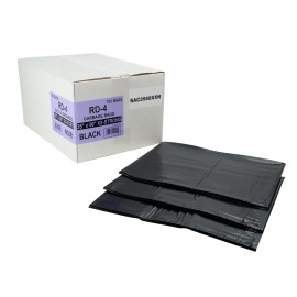 "Commercial Garbage / Trash Bags - Ultra Extra Strong - 35"" x 50"" (88.9 cm x 127 cm) - Black - Box of 100"