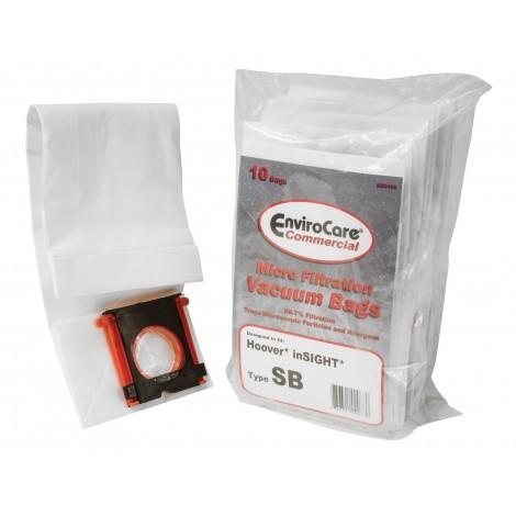 Sacs en papier pour aspirateur Hoover InSIGHT type SB - paquet de 10 sacs - Envirocare 195
