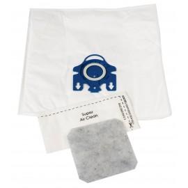 Sacs antiallergènes pour aspirateur Miele de types G et N - paq/5+2 Envirocare #C204