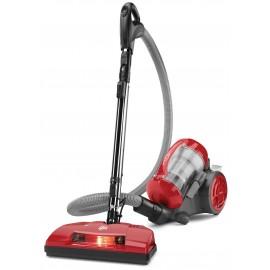 Démo: Aspirateur chariot, Dirt Devil # SD40035CDI, sans sac, brosses, outil spécial pour poils d'animaux et balai électrique